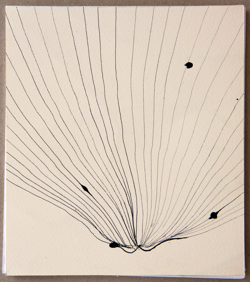 40x40 cm  tusch på papper