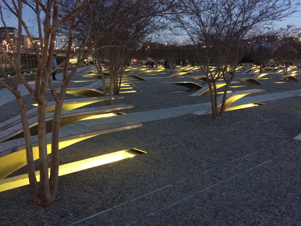 Possibly my favorite - the 9/11 Memorial at the Pentagon. It's a must see if you are in the D.C. area - and go at night.