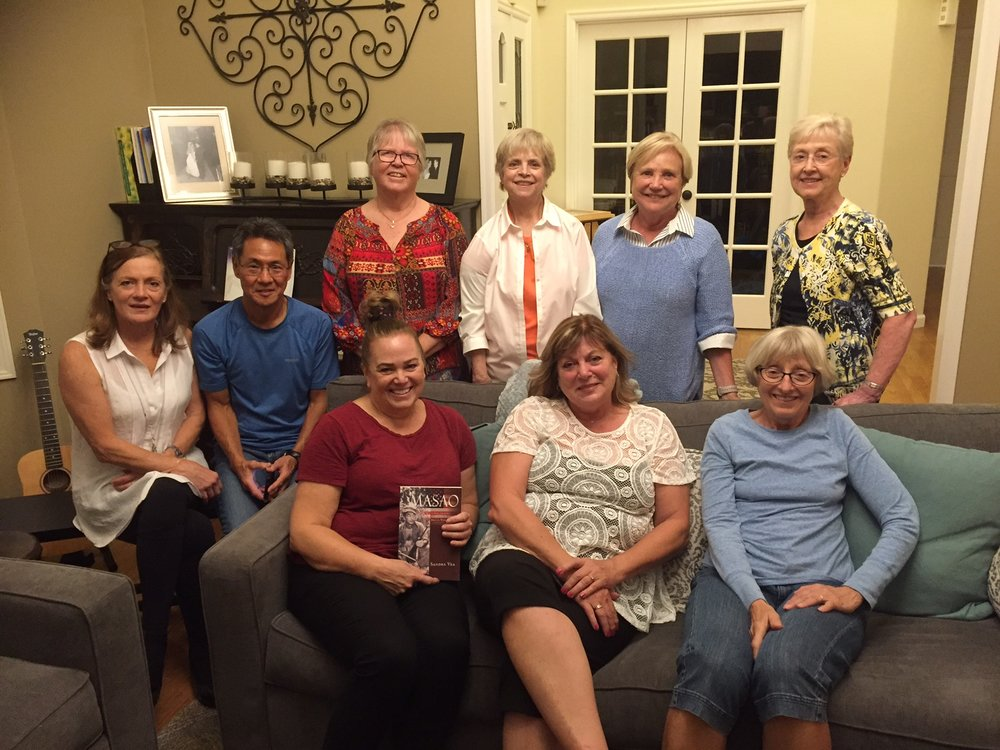 From left to right: back row- Debbie, Alan,Minon, Leslie, Kathy, Gloria, front: Sandra, Pam and Janet.