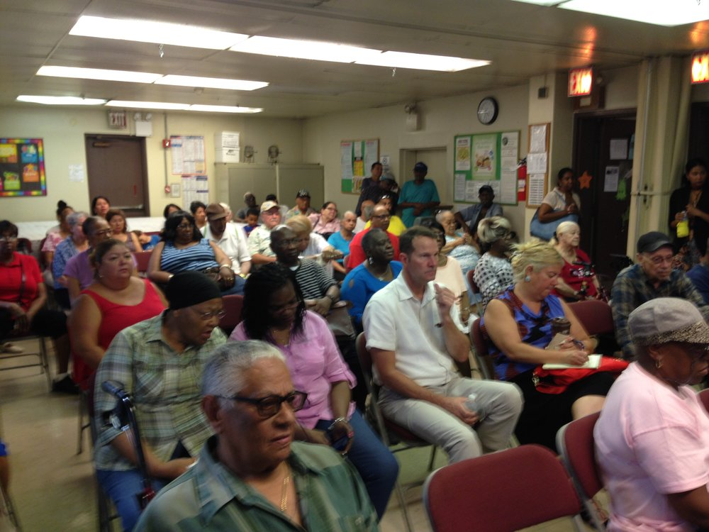 Residents were given the opportunity to ask questions to NYCHA about PACT/RAD. Spanish translation was provided.