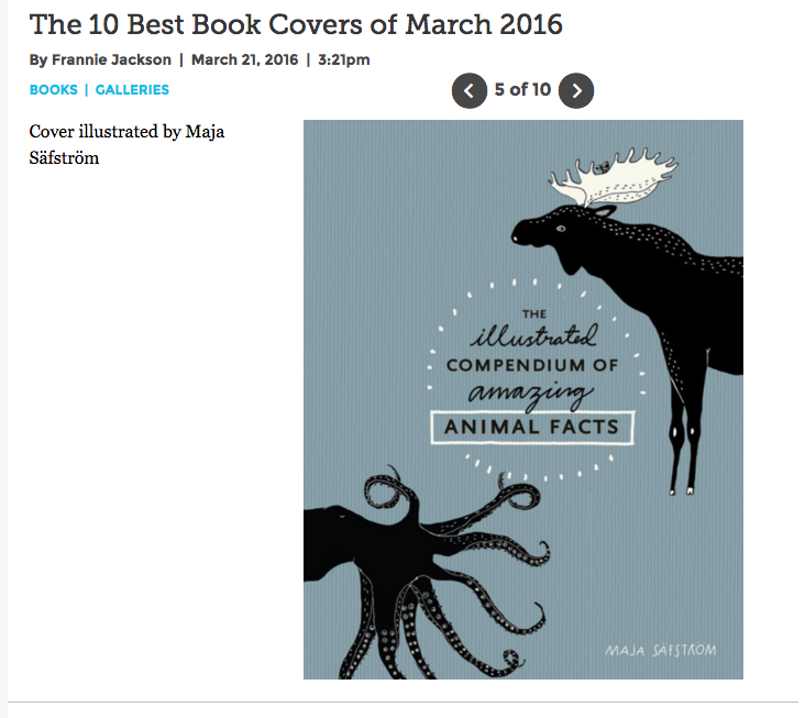 Best Illustrated Book Covers : The illustrated compendium of amazing animal facts — m a j
