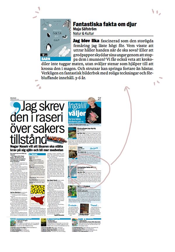 Ingalill väljer maja säfström fantastiska fakta om djur bok djurbok faktabok illustrerad bok illustrationer boktoppen natur och kultur majasbok