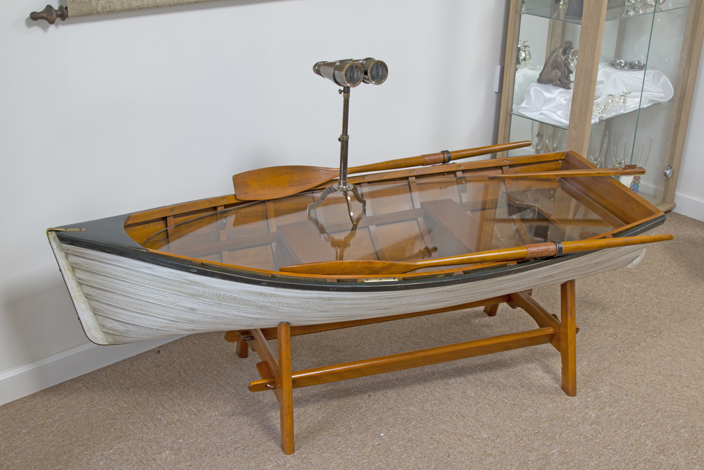 Sailing boat table