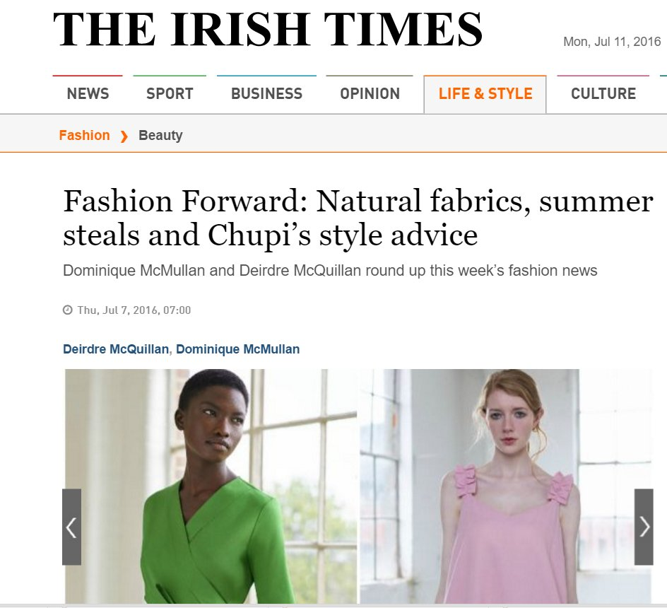 Irish Times Life & Style July 2016