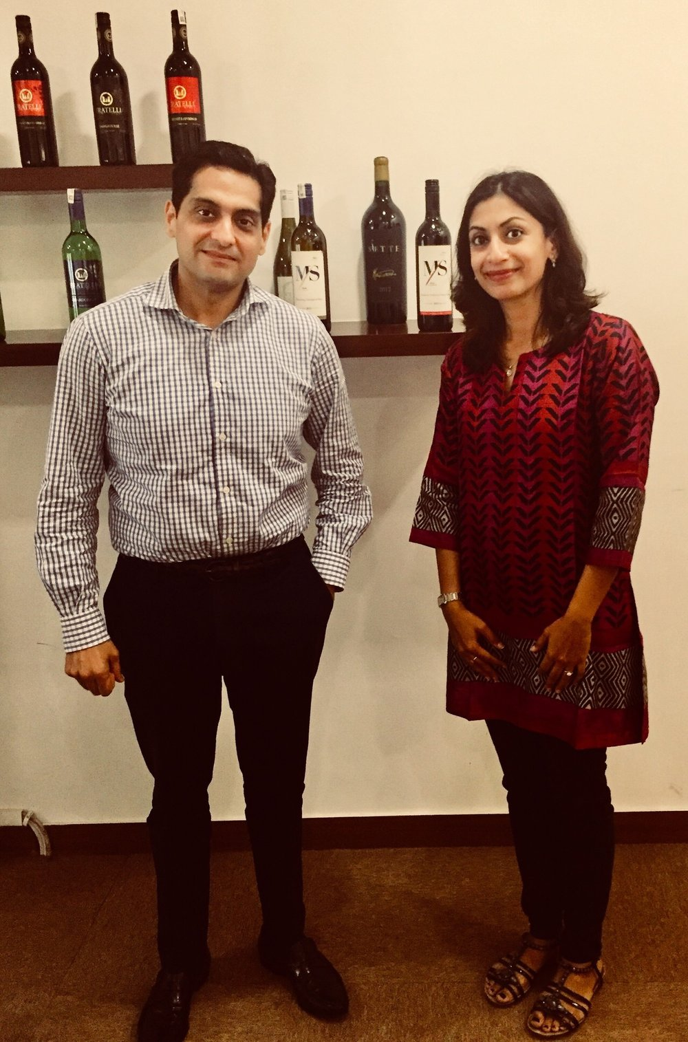 Sumi with Kapil Sekhri (Co-Founder of Fratelli). It is team spirit that is celebrated here. (Photo credit: Sumi Sarma)