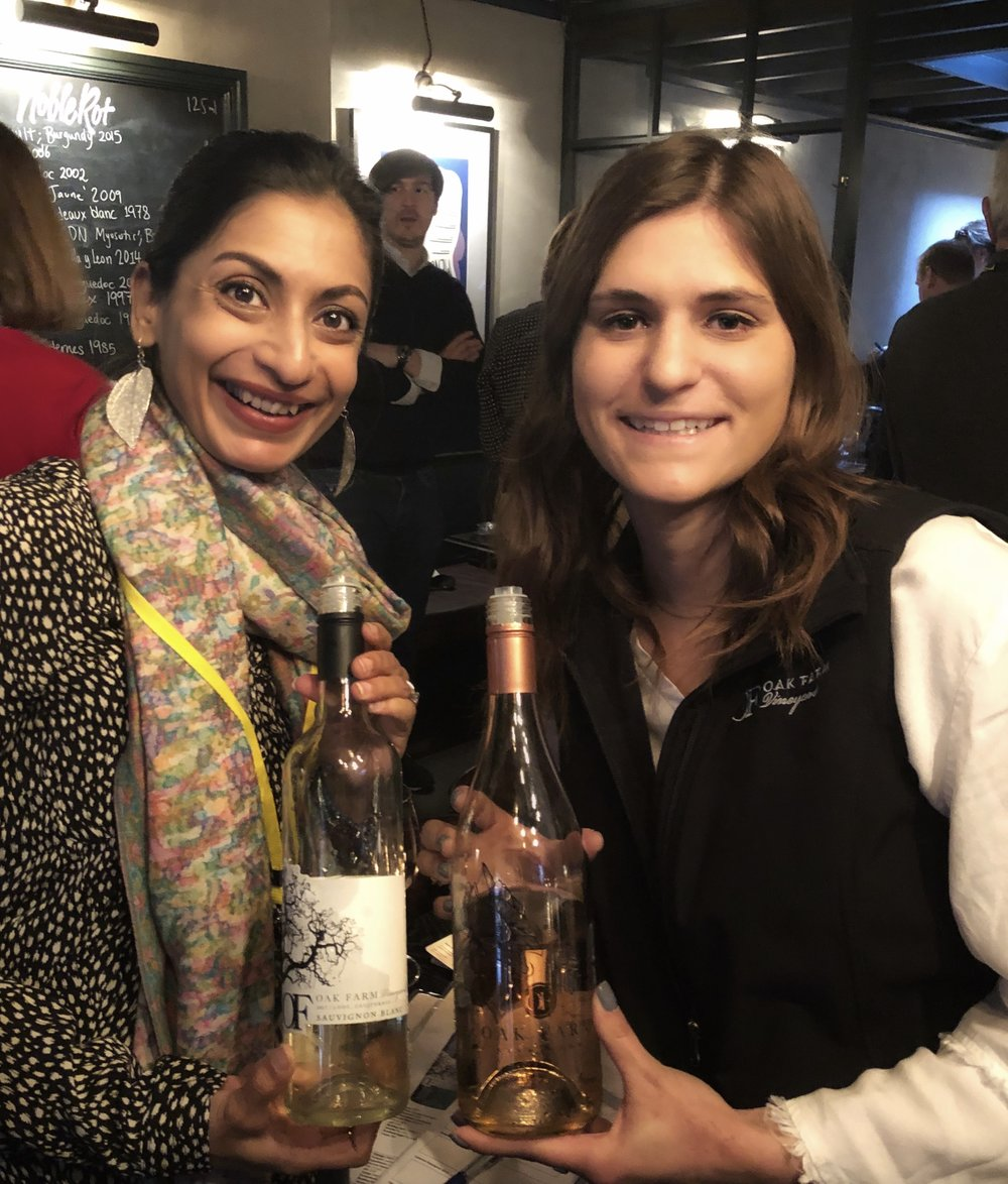 Sumi meeting Sierra in London at Lodi Tasting (Credit: Sumi Sarma)