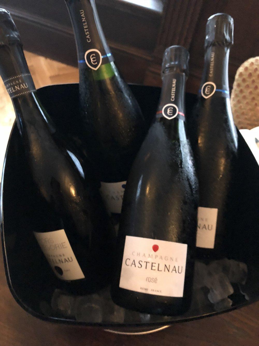 Champagne Castelnau Rosé served chilled (Credit: Sumi Sarma)