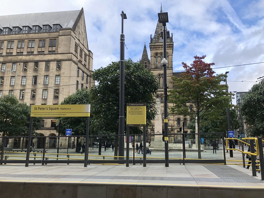 An English Heritage, Manchester's Town Hall stands behind the St Peter's Square - built to build the gap between Neo-Gothic and Classical Architecture (Image: Sumi Sarma)