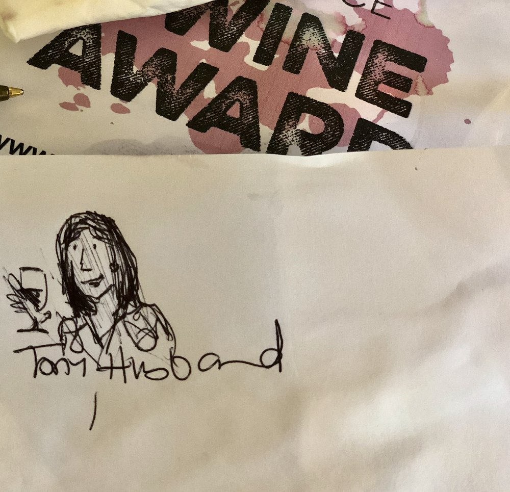 Tony Husband's impression of Sumi ready for a glass of tasting.. Thank you! (Image: Sumi Sarma)