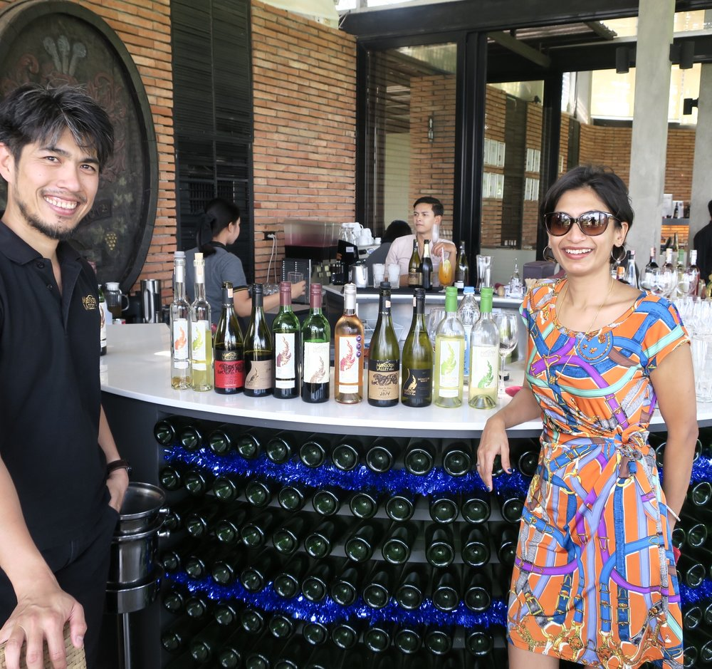 Sumi with Suppached, Winemaker at Monsoon Valley wines