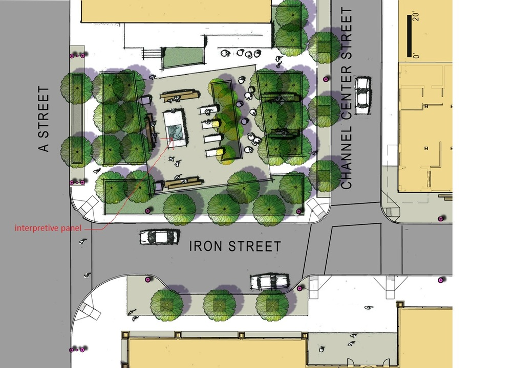 Design for Iron Street Park in Boston by Halvorson Design Partnership