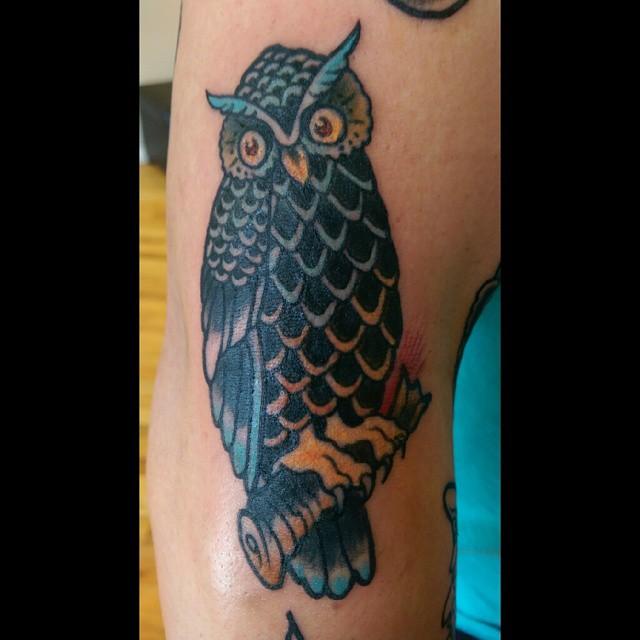 Sailor Jerry Tattoo Owl