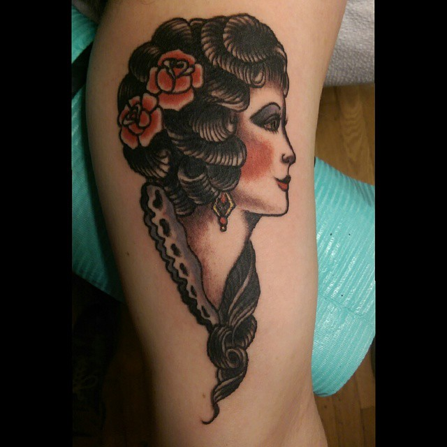 Sailor Jerry Tattoo Lady Head