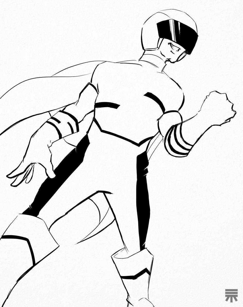特撮 superman bw.jpg