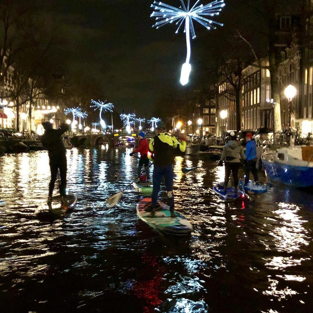 amsterdam light festival sup tour
