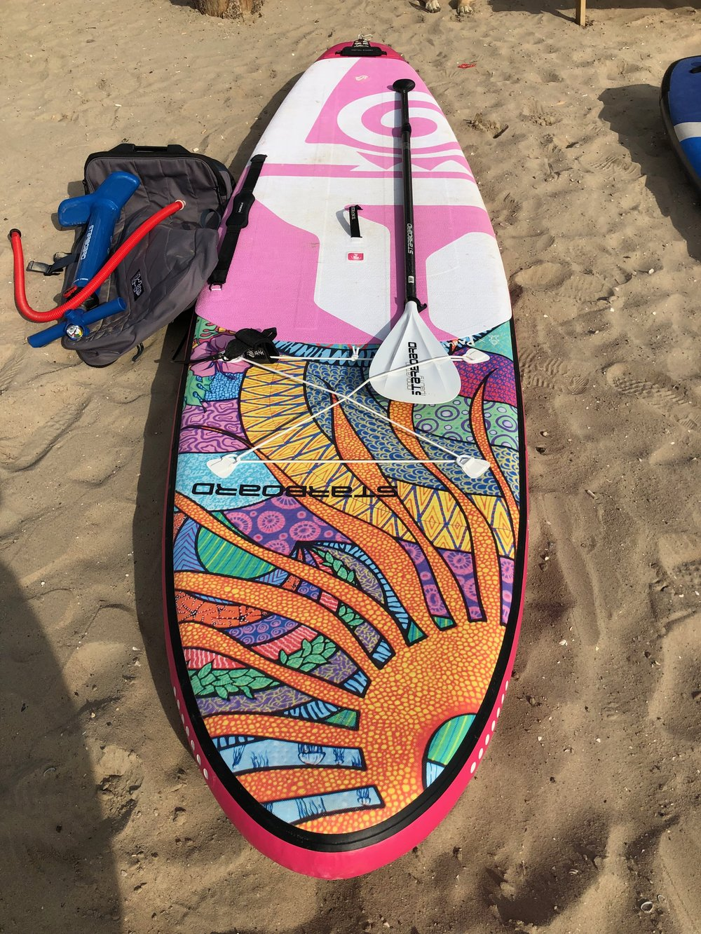 Starboard Tikhine inflatable 10.2 or 11.2 €750 including bag, pump, leash, carry handle and paddle