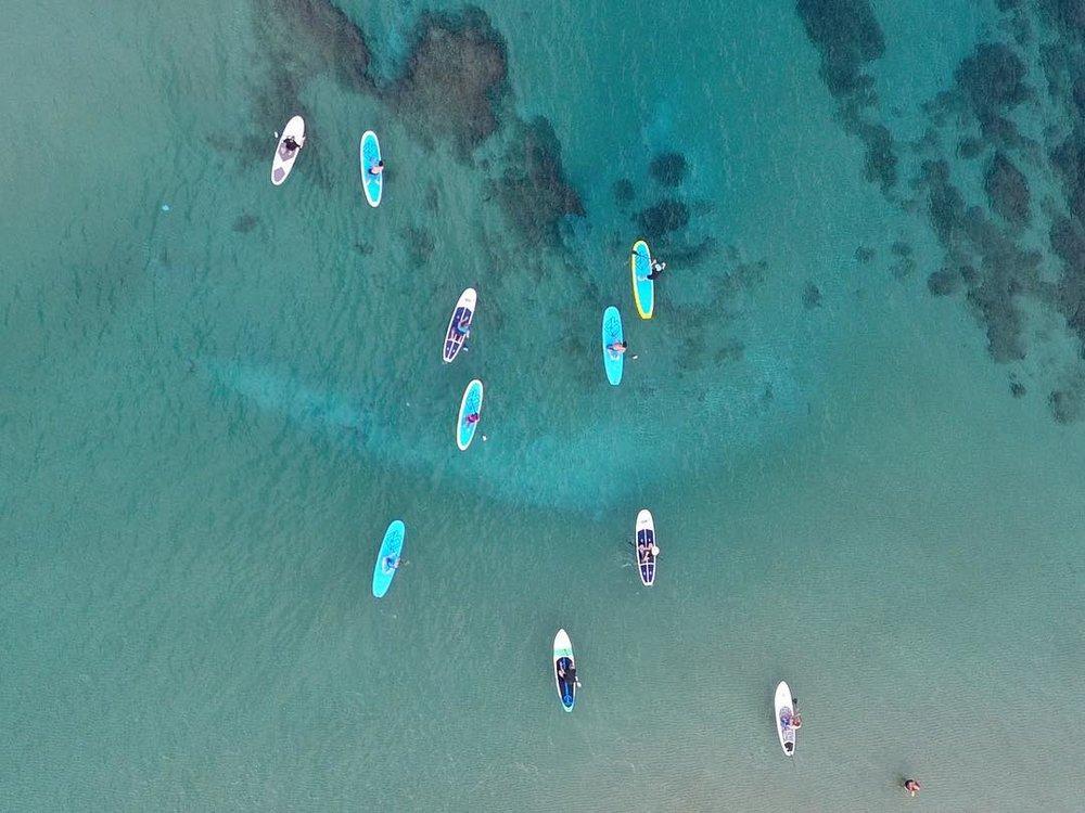Israel ocean strand up paddling