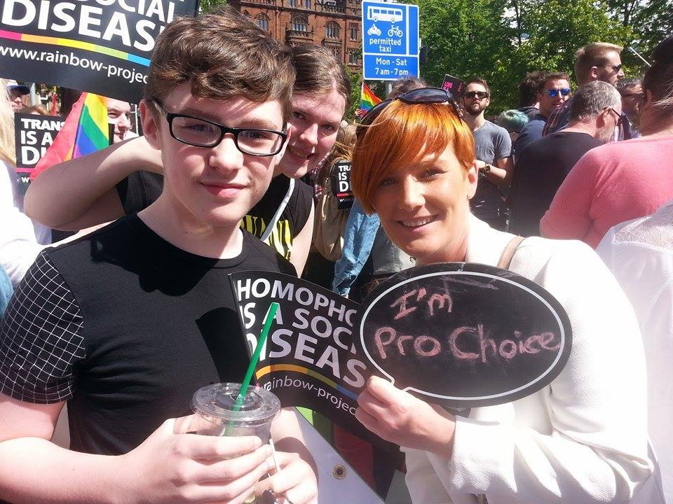 Supporters in Belfast during Gay Pride, 2015