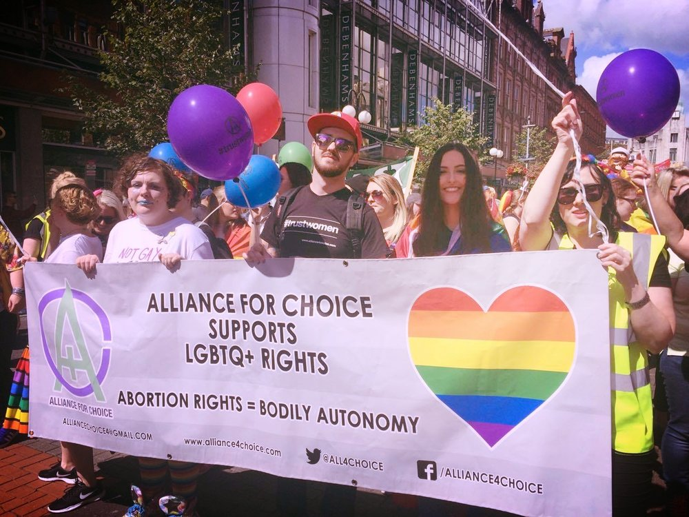 Alliance for Choice at Belfast Pride 2017, credit Jill McManus