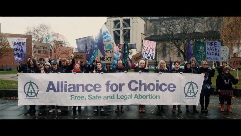 Some of Alliance for Choice at the video shoot