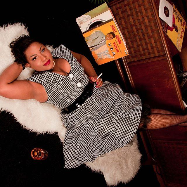 In the 2018 Black Pinup Magazine Calendar the dynamic Ms. Ce Ce Noir  #blackpinup#blackbeauty#pinupgal#pinupgirl#blackisbeautiful#smokinganddrinking#blackpinupmagazine.