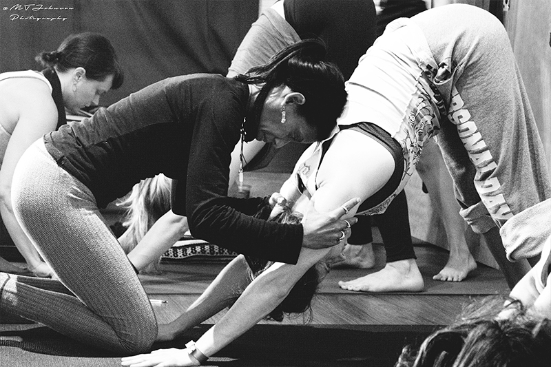 Lisa Jay Johnson Adjusting Adho Mukha Svanasana