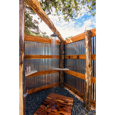 Luxurious - Outdoor Showers & Indoor Restrooms