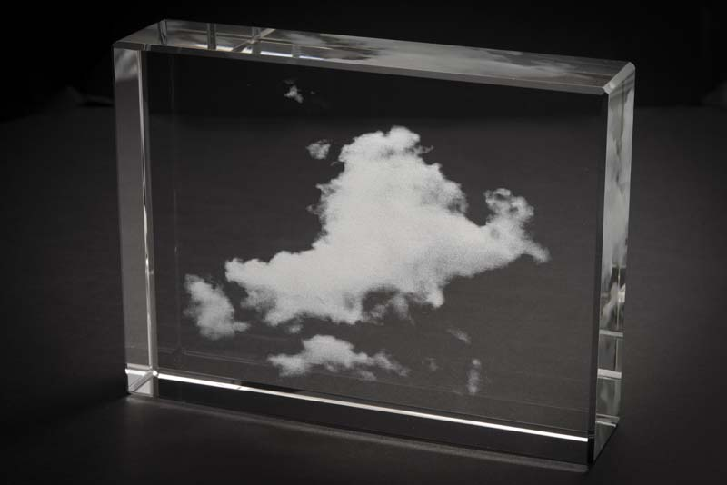 "Cloud (Kumo) Shizen (Nature) GLASS, 4"" X 6"" X 1.75"", 2014"