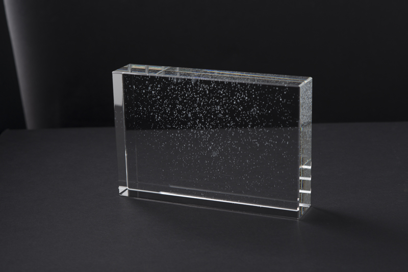 "Yuki (Snow), Shizen (Nature) Series, Glass, 4"" x 6"" x 1.75"""