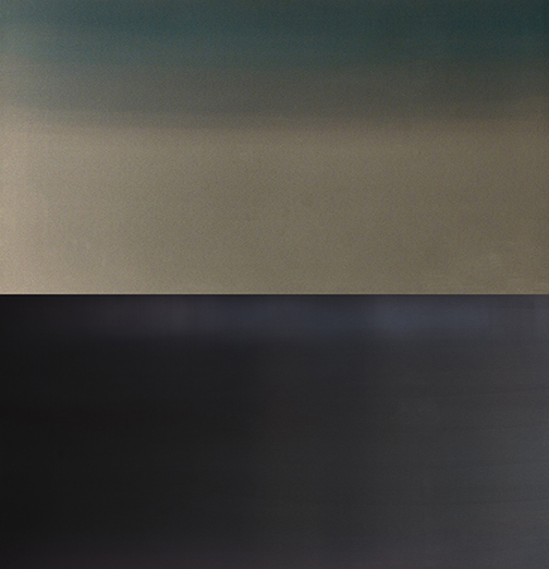 "QUIETNESS 2, 48"" X 48"", WATER, DYE, ANODIZED ALUMINUM, 2014"