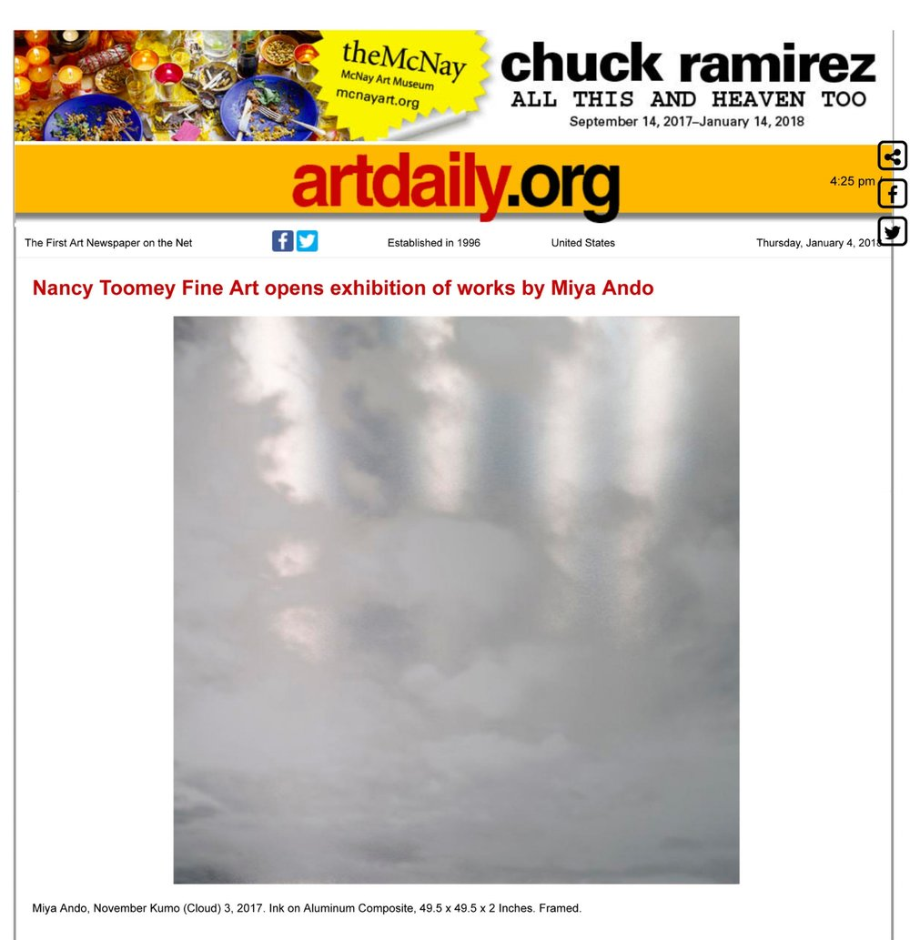 p 1 art daily Nancy Toomey Fine Art opens exhibition of works by Miya Ando-1.jpg