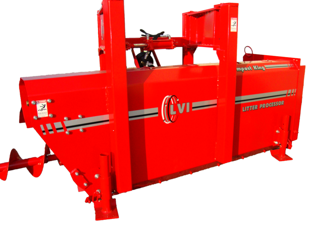 Kompost King Poultry Litter Windrower Machine Back
