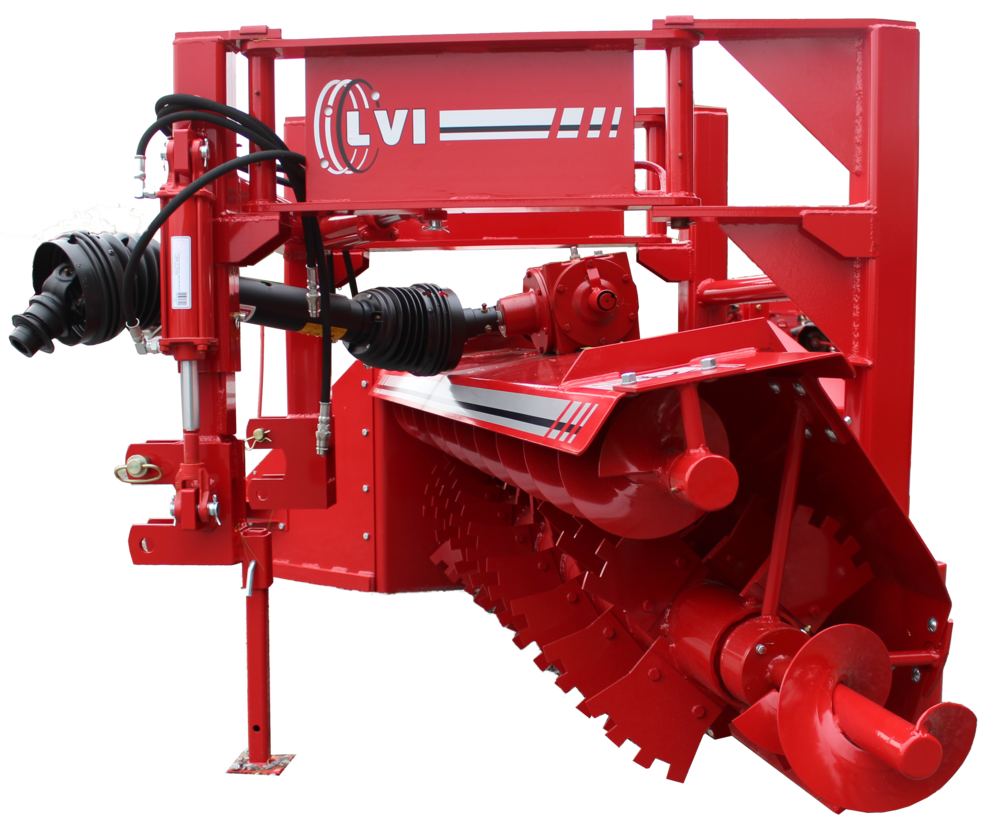 Deluxe Poultry Litter Windrower Machine Side