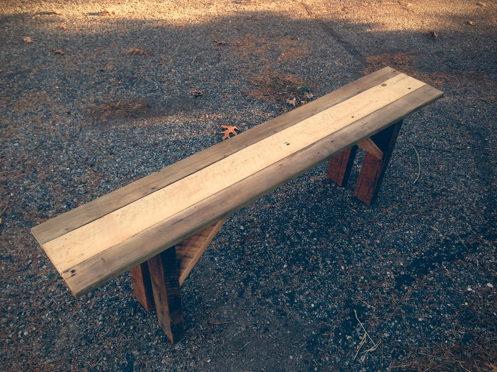 Multi Color Reclaimed Bench - $80