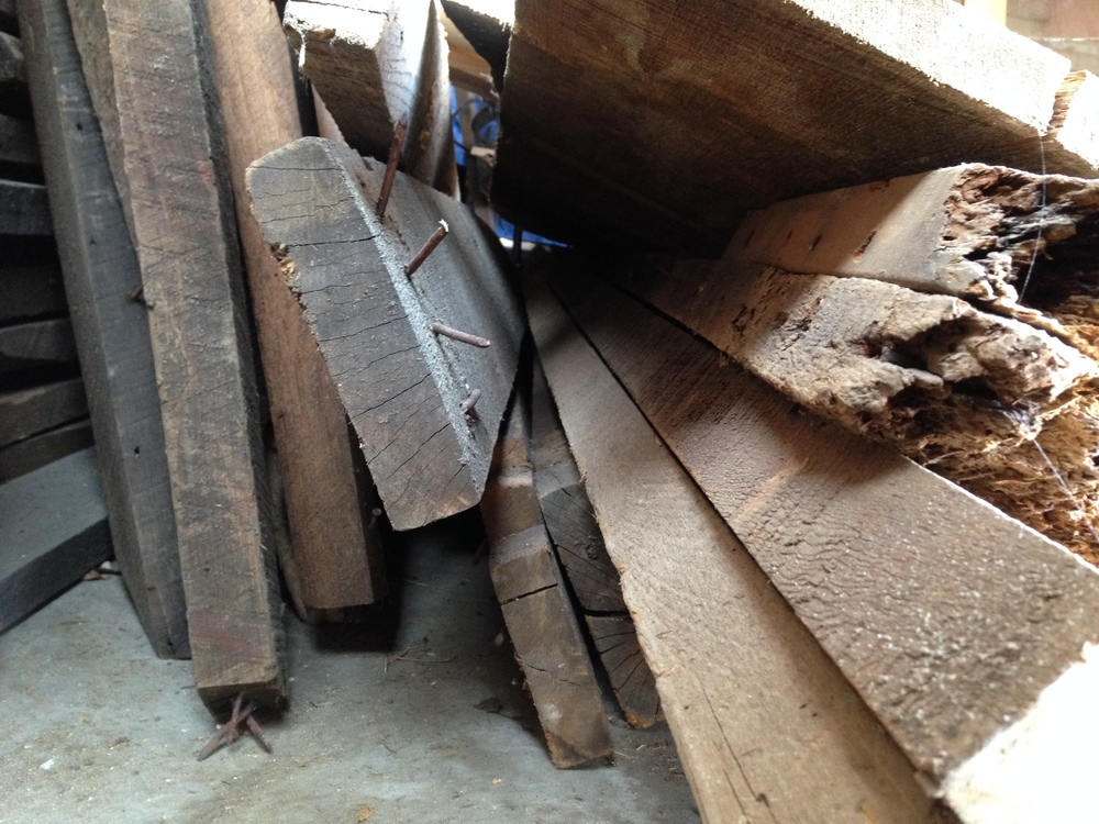 Pile o'wood. Waiting to become something sweet.
