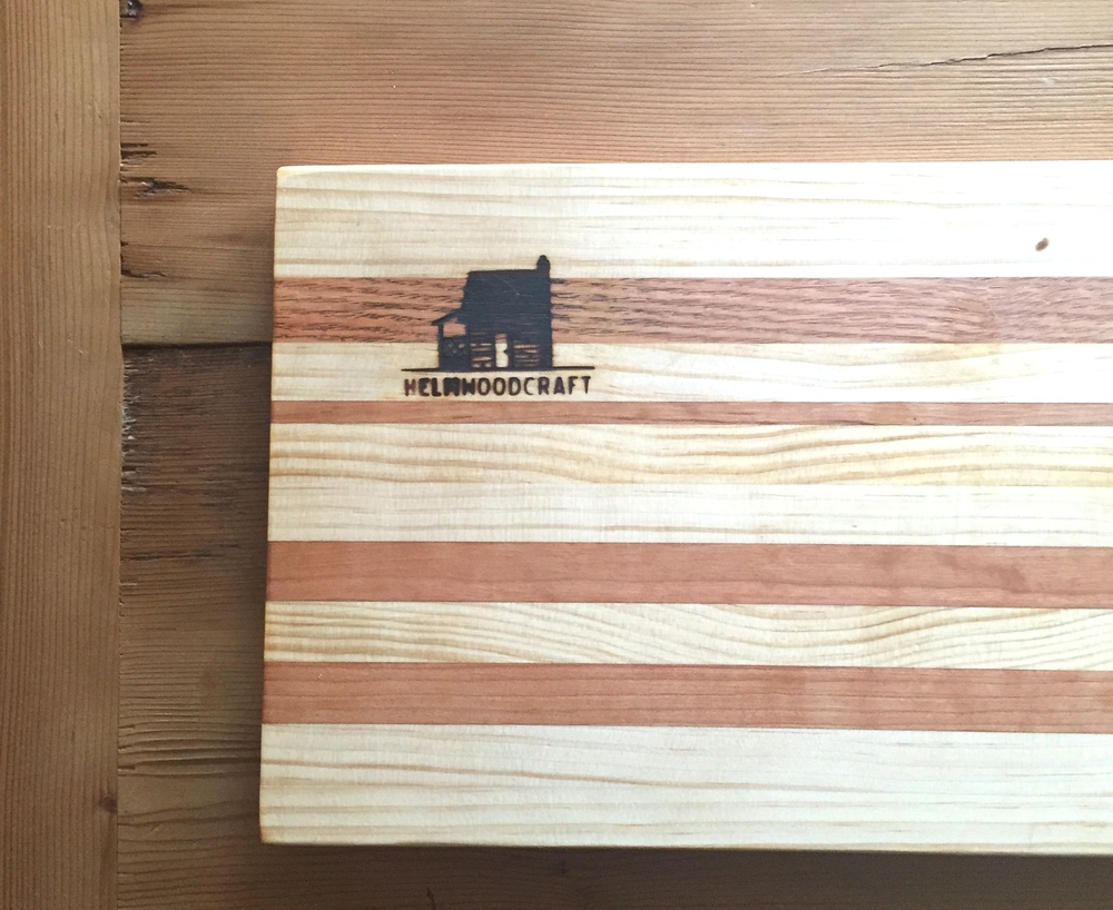 Multi color cutting board - $45  Mini-version - $30