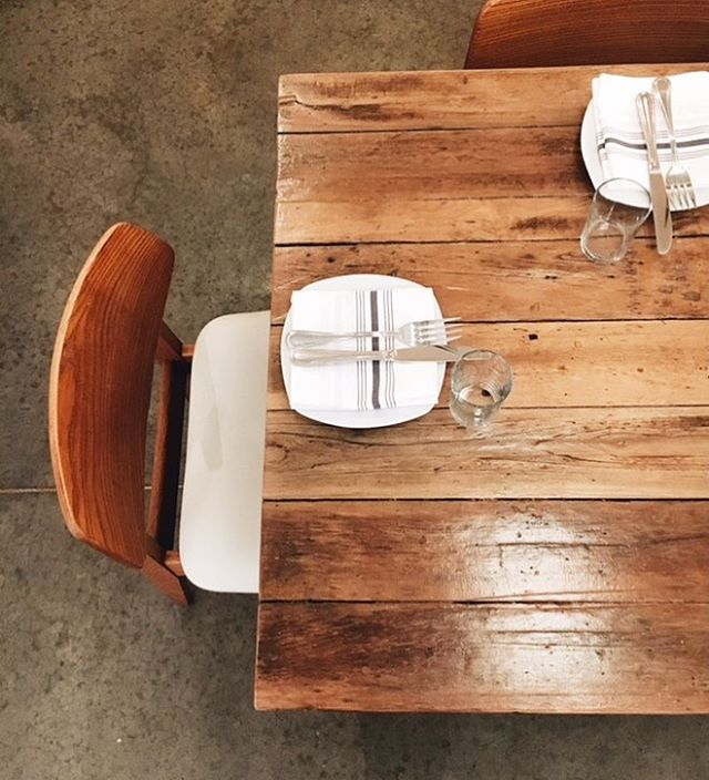 Tables still kickin at Rua 2 years in!  Thanks for the awesome project @ruawarsaw and for the pics @midwestlaurel  #helm #woodworking #reclaimedwood #reclaimed #salvage #table #design #restaurant #carpentry
