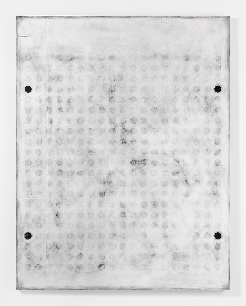 "UNTITLED_012 Plaster, gesso & lacquer on wood panel 72x56"" / 182.8x142.2 Cm 2016"