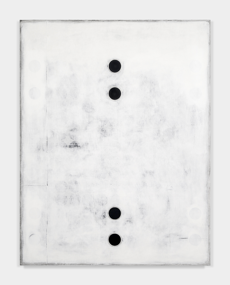 "UNTITLED_4579 Plaster, gesso & lacquer on wood panel 72x56"" / 182.8x142.2 Cm 2016"