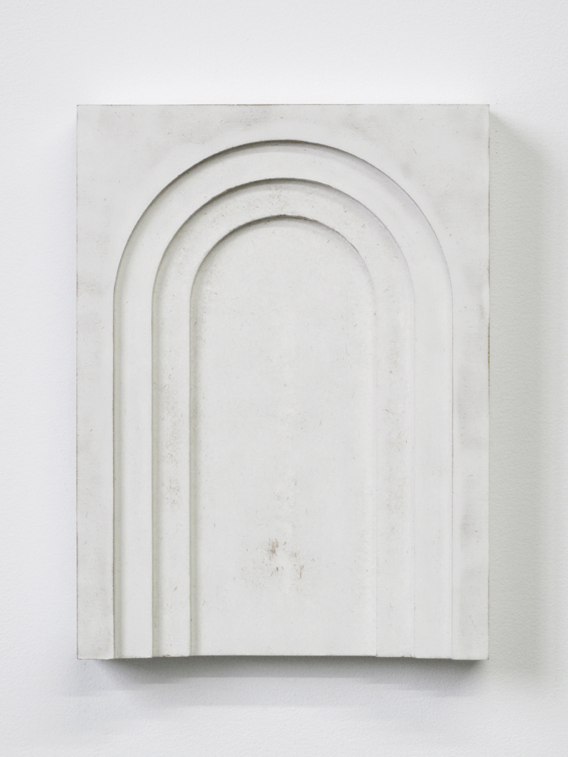 "UNTITLED Plaster and lacquer on mdf 12x9"" / 30x22 Cm 2013"