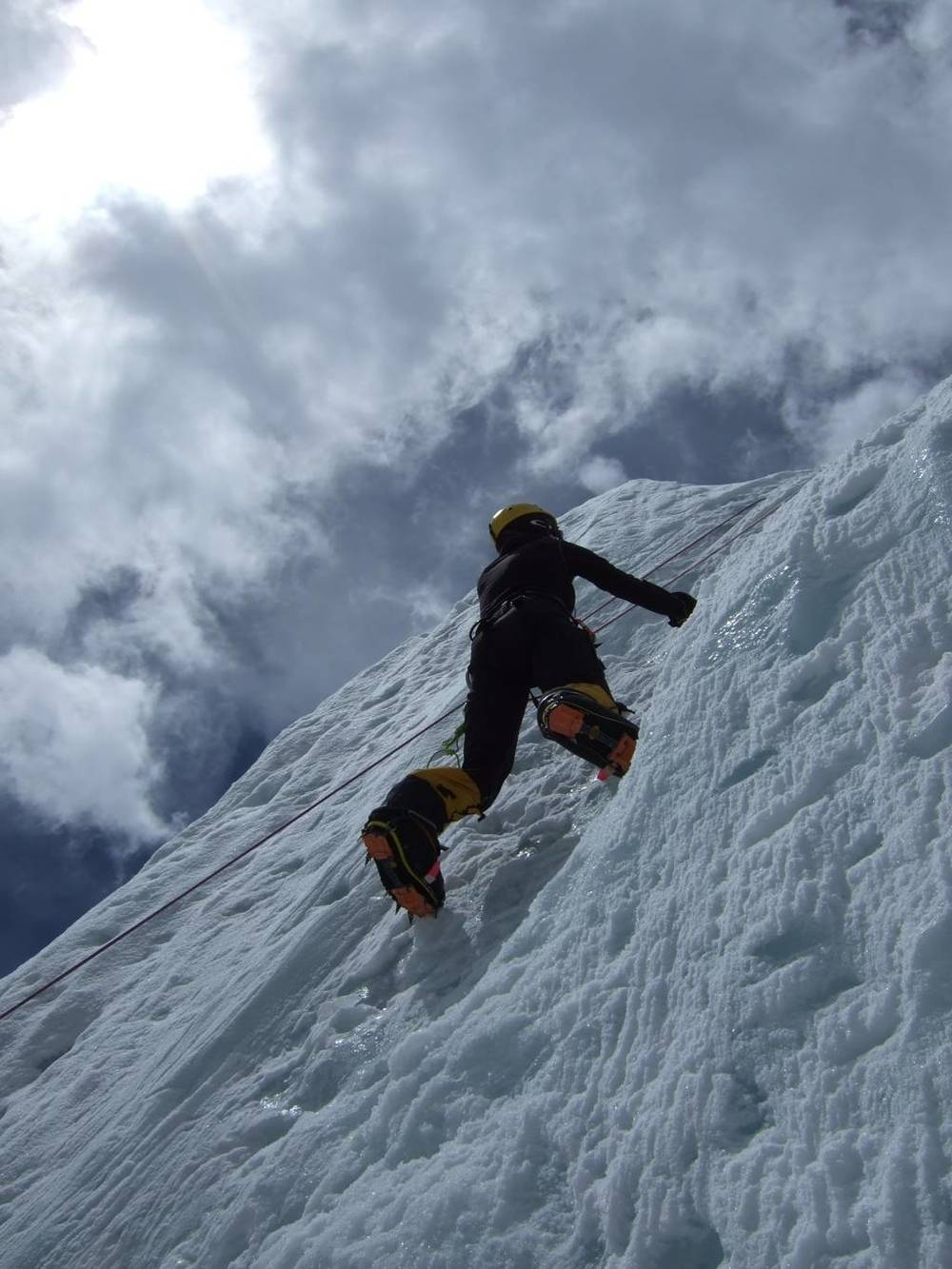 Ice climbing at Basecamp
