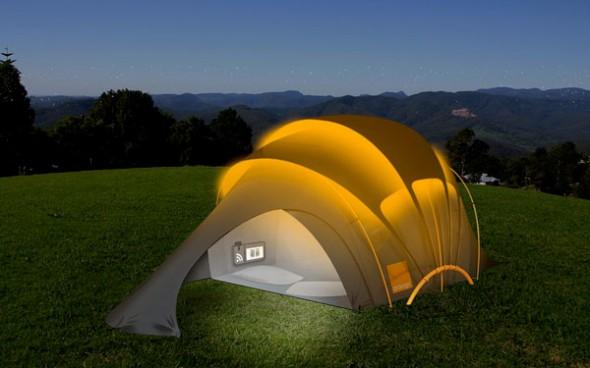 A experiência de acampar torna-se mais confortável com a novidade.