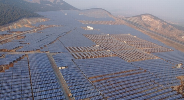 China quer incentivar plantas solares.