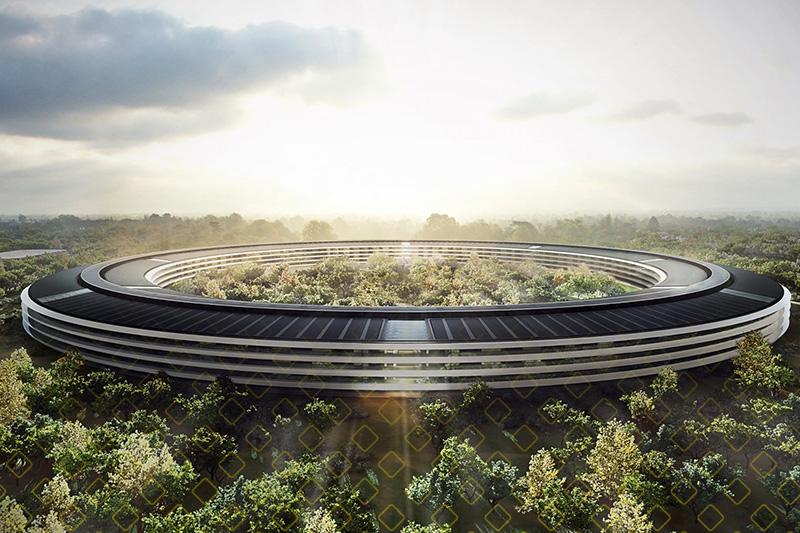 Nova sede da Apple: 100% de energia renovável e 8 mil árvores.