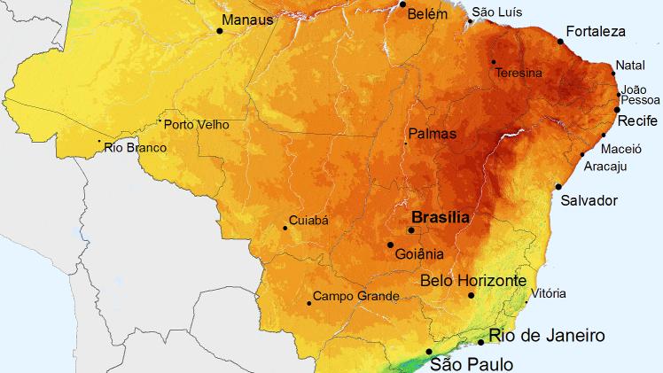 solar radiation brazil map