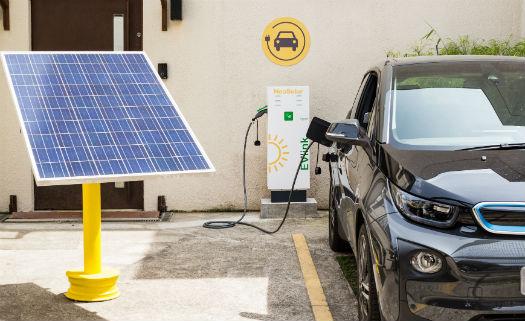 eletroposto + energia solar