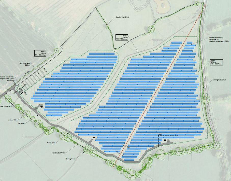 Plano da engenharia da usina fotovoltaica - Itacarambi, MG