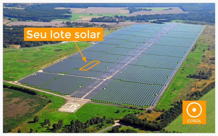Imagem ilustrativa de uma usina fotovoltaica compartilhada no Brasil.