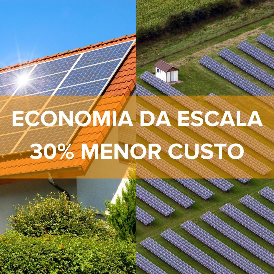 economia energia solar condomínio cooperativa