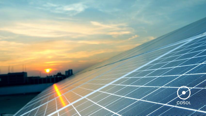 energia solar + COSOL